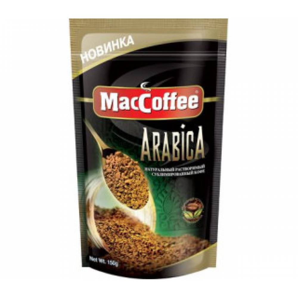 "Кофе ""MacCoffee"" ""ARABICA"",нат. раств. сублимир., д/пак 75г*12"